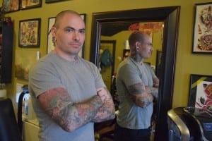 MattMontleon,tattooartistandownerofHonorableInk(photobyM.Turton)