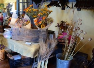 Dried flowers for sale at the Cold Spring Farmers' Market; photo by L.S. Armstrong