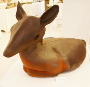 A deer reposes at the Garrison Art Gallery show and sale. Photo by L.S. Armstrong