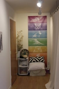 A peaceful corner of a calming room at Sacred Space. (Photo by A. Rooney)