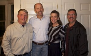 Robert Flaherty, Supervisor Richard Shea, Nancy Montgomery and newly elected highway superintendent Carl Carl Frisenda (photo by K.E. Foley)