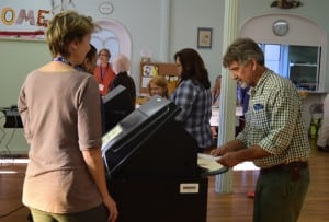 Election workers reported a heavy voter turnout at the polling station located in the Methodist Church in Cold Spring. (Photo by M. Turton)