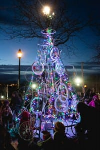 Photo of the 2014 bicycle tree by Ethan Harrison