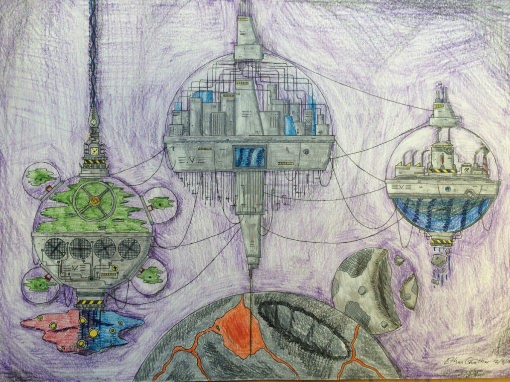 """""""EarthAfter,""""byEthanGuntherofHaldaneHighSchool(imageprovided)"""