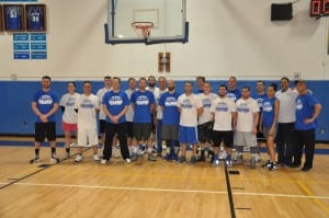 Participants in the 10th annual Basketball Alumni Game at Haldane High School on Nov. 28. (Photo by Peter Farrell)