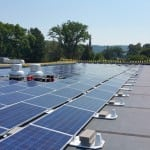 The Haldane project includes 958 rooftop solar panels. (Photo courtesy of Monolith Solar)