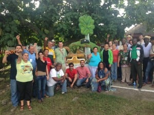 A group of delegates that visited Villa Clara, a central province. Llewellyn is third from the right.
