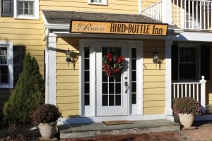 Still painted in its signature yellow, the Bird & Bottle Inn has added Pamela's to its name. (Photo by A. Rooney)
