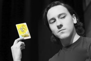 Enigmatic fortune teller, quick with a scam and a prophesy, portrayed by 'Saturday cast' member Evan Pohulchuk. (Photo by Jim Mechalakos)