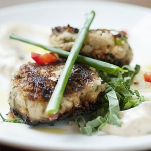 From The Vault menu: Jumbo lump Maryland style crab cakes in a tarragon remoulade (photo provided)