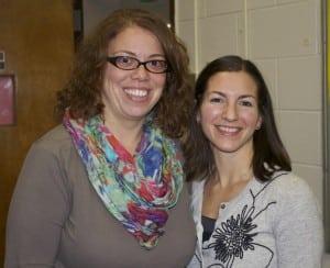 Laura Hammond, left, and Jen Daly (Photo by K.E. Foley)