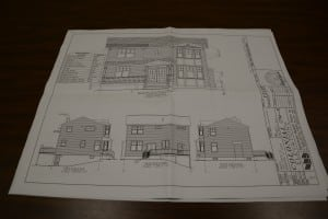 Plans filed  for a modular house at 230 Main St. (Photo by L.S. Armstrong)