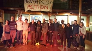 Beacon Prison Action organizers and forum speakers. (Photo provided by Isaac Scott)
