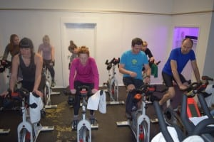 """Spinning"" sessions last about 45 minutes. (Photo by M. Turton)"