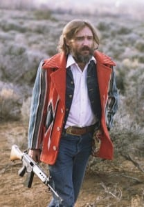 Dennis Hopper, in a scene from American Dreamer (publicity photo)