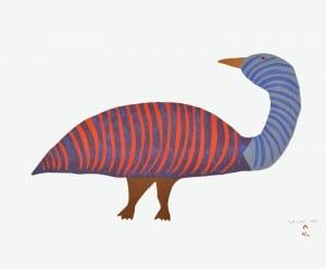 Saimaiyu Akesuk, Striped Goose, 2014 (Photo by Dorset Fine Arts, Toronto)