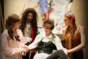 Leah Anne Siegel as Wendy Darling, Alexander Ullian as Captain James Hook, Rhiannon Parsaca as Peter Pan, and Emily Kidd as Tiger Lily (photo provided)