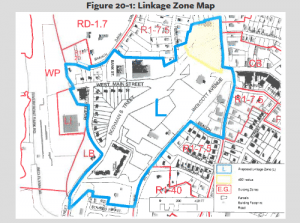 A map showing the liking zone in Beacon. (Click to enlarge.)