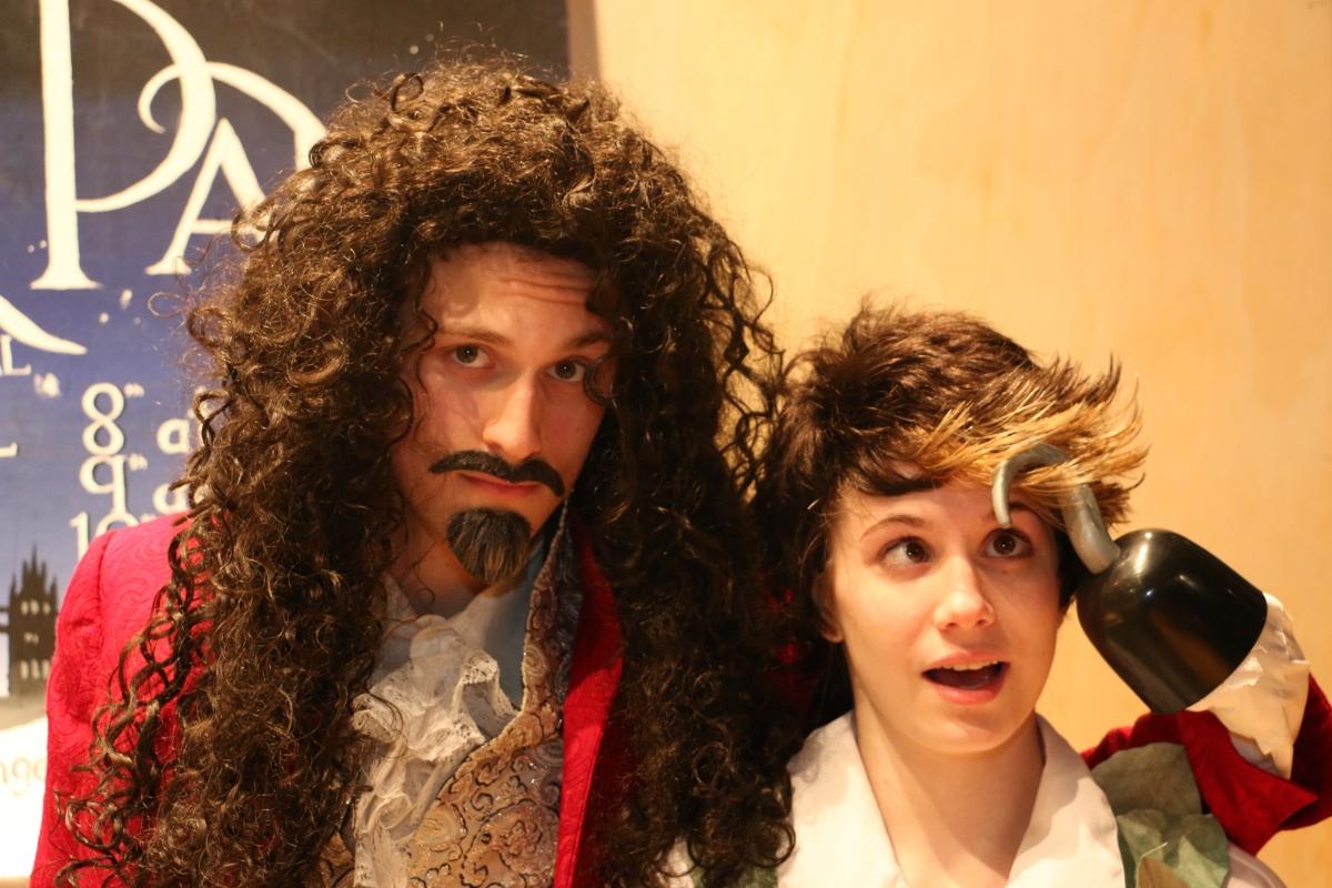 Peter Pan Alexander Ullian as Captain Hook and Rhiannon Parsaca As Peter Pan