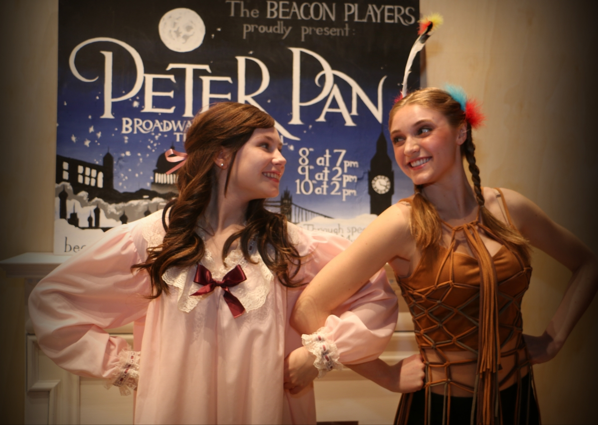 Peter Pan Leah Anne Siegel as Wendy Darling and Emily Kidd as Tiger Lily