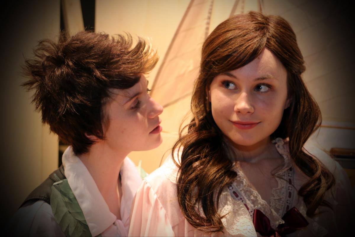 Peter Pan Rhiannon Parsaca as Peter Pan and Leah Anne Siegel as Wendy Darling