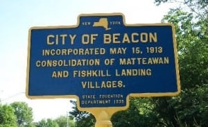 A state historical marker explaining the origins of Beacon.