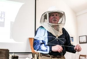 Apiarist Rodney Dow presented Make Your Bees Thrive at Glynwood Farm in early April. Spring is when hive-building, breeding and honey-making begin.(Photo by A. Peltonen)