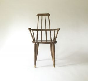 The Jupiter Windsor Chair, designed by Dzierlenga Furniture of Salt Point, NY is made from reclaimed and bleached, spalted maple. (photo provided)