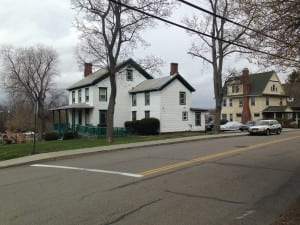 The two homes adjacent to St. Andrews Church (Photo provided)