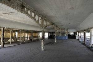 The open-air ballroom of the SS Columbia. It is hoped that restoration of this area will take place in Kingston. (photo provided)