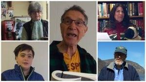 Clockwise from upper left: Leonora Burton, Heller Levinson, Lucille Merry, Neal Spitzer and Noah Bingham