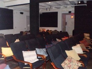 Asifawholebunchoffriendscoziedupyourlivingroom:DowningFilmCenter'sseating.(Photoby BrianBurke)