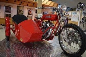 A Harley chopper (photo by M. Turton)