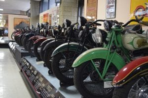 The museum's collection of Indian motorcycles may be the world's largest. (Photo by M. Turton)