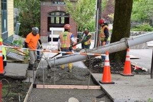 WorkersbeganpouringconcreteonMay5aspartofColdSpring'sMainStreetimprovements.(PhotobyM.Turton)