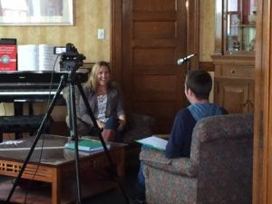 "NoahCory,filmmakerandformerpatientof""NurseMelonie,""interviewsherforhisfilm.(Photo provided)"