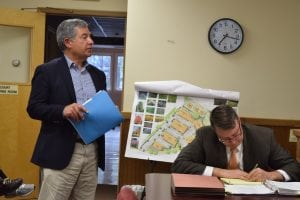 Paul Guillaro (L) said the proposed change is minor. (Photo by M. Turton)