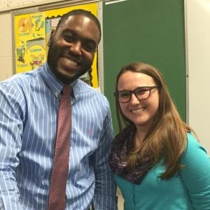 Jarell Myers and  Katie Thorpe Blaha spoke about recognizing childhood anxiety.  (Photo by A. Rooney)