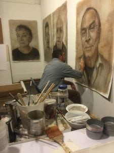 Joe Radoccia in his studio (photo by Negkalfou)