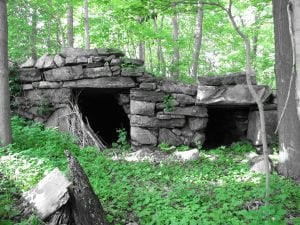 These twin chambers  are located near Oscawana Lake in Putnam Valley. (Photo by Renee Fleury)