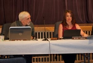 Beacon school board vice president William Zopf and president Melissa Thompson (Photo by K.E. Foley)