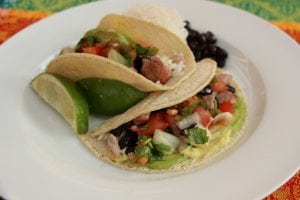 Share a summertime meal of fish tacos. (Photo by M.A. Ebner)