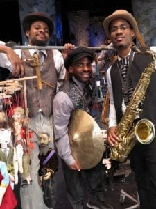 James Brandon Lewis, bassist Luke Stewart and drummer Warren Trae Crudup III (photo provided)