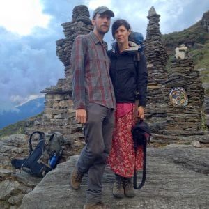 Filmmakers Lucas Millard and Kate Stryker in Chepuwa, Nepal (image courtesy of Bottomless Well Films)