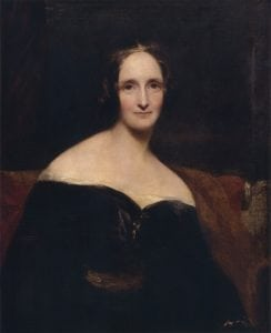 Mary Shelley in 1840-41, by Richard Rothwell