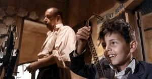 A scene from the 1988 film Cinema Paradiso