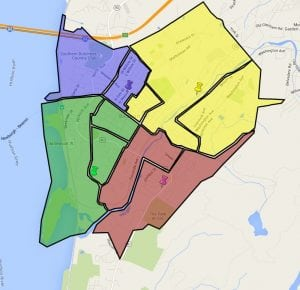 Ward 3 is shown in yellow (Source: Google Maps)