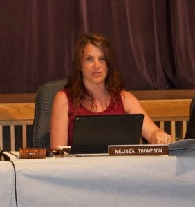 Melissa Thompson at a Beacon school board meeting in June (file photo)