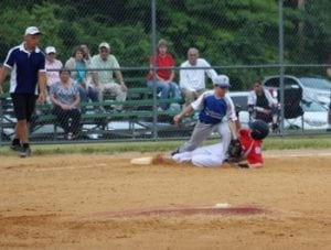 Blake Bolte at third base (Photo by Linda Bolte)