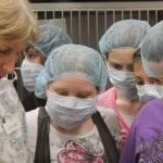 Dr. Kathi Heiber of the South Putnam Animal Hospital with students during the 4-H Junior Vet Series (photo provided)